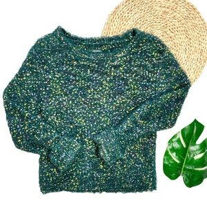 Wild Fable Target Textured Fuzzy Confetti Cozy Crewneck Sweater Size Large